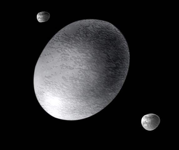 La forma allungata di Haumea, classificato pianeta nano...