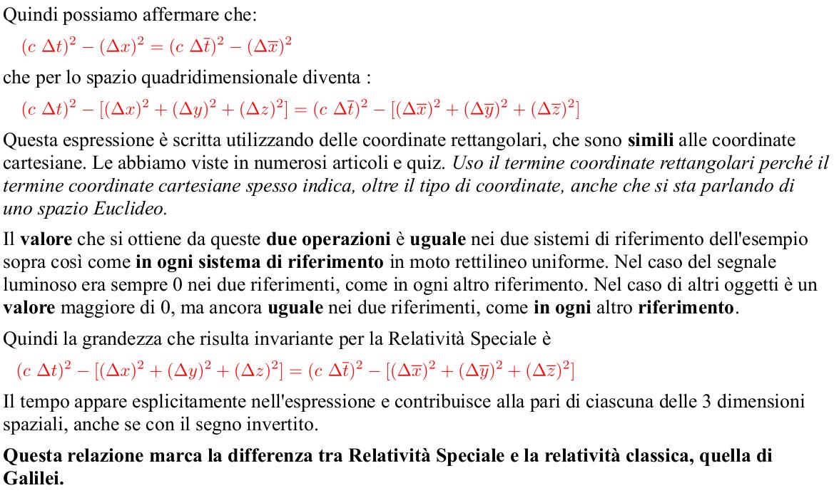Albert Einstein Relatività Speciale. Relatività Ristretta. Spazio-tempo di Minkowski. Espressione della grandezza invariante candidabile per la distanza. Metrica di Minkowski.