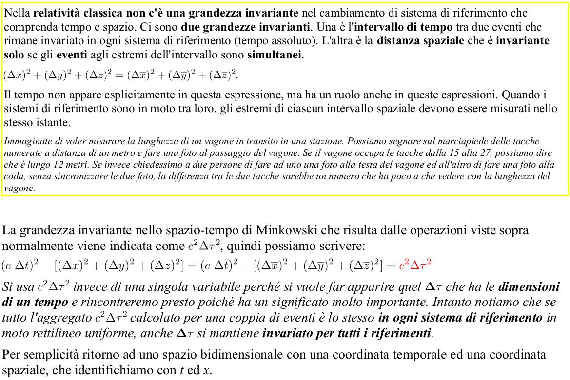 Albert Einstein Relatività Speciale. Relatività Ristretta. Spazio-tempo di Minkowski. Inveriante spazio-tempo classico. Introduzione al tempo proprio. Metrica di Minkowski.