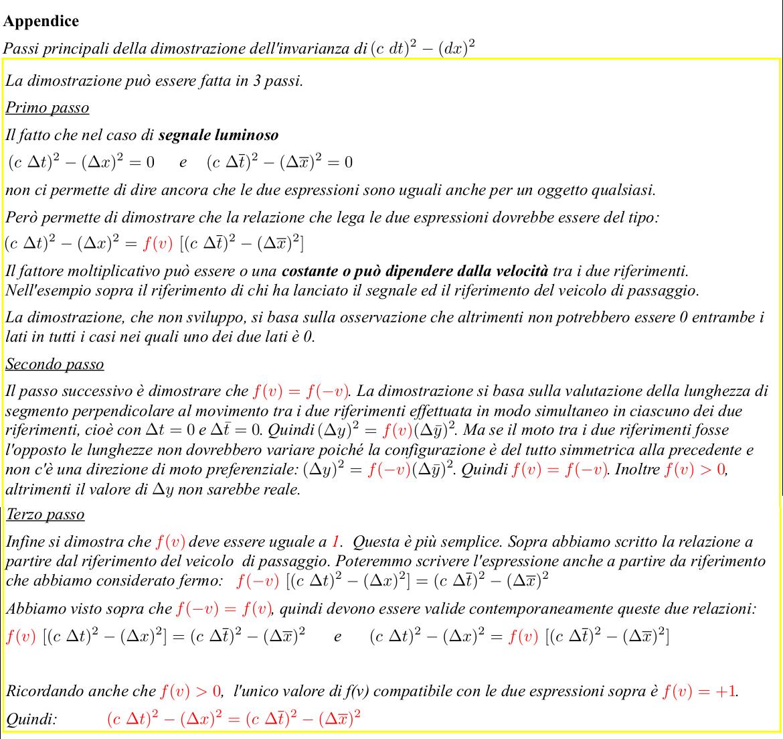 Albert Einstein Relatività Speciale. Relatività Ristretta. Spazio-tempo di Minkowski. Traccia della dimostrazione della invarianza dell'elemento di linea. Metrica di Minkowski
